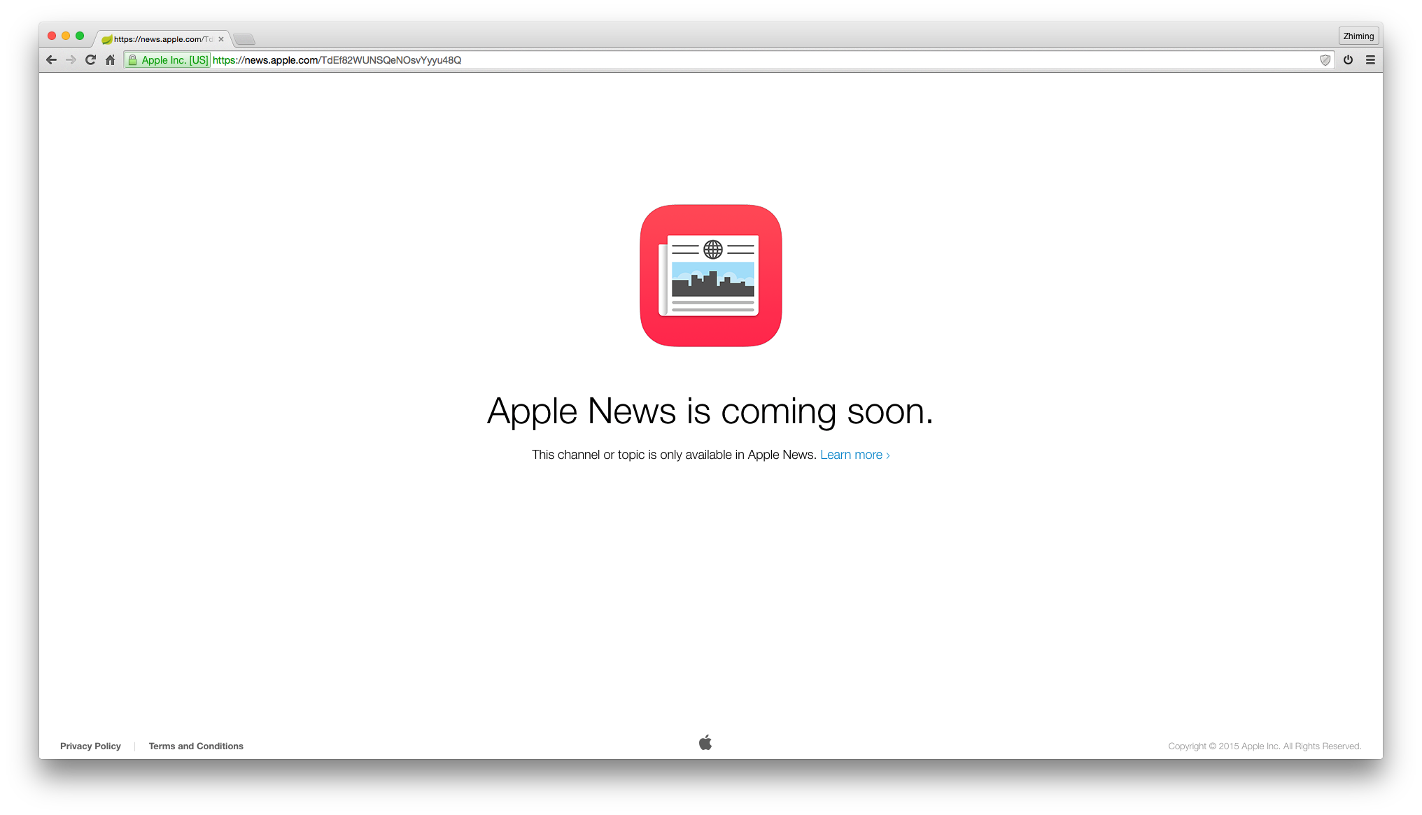 Apple News is coming soon. This channel or topic is only available in Apple News.