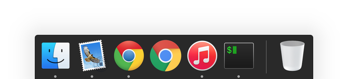 Both icons in the dock, old one the left and new one on the right.